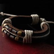 Herren-Rock-Mehrschicht echtem Rindslederarmband