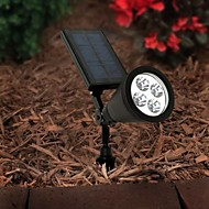 4-LED Outdoor Solar Power Spotlight Landskap Spot Light Gräsmatta Flood lampa