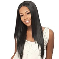 18Inch High Quality Natural Silk Straight Human Hair Front Lace Wig Glueless Brazilian Hair