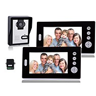 7 Inch Wireless Video Door Phone with  Night Vision (1camera 2 monitors)