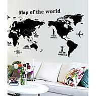 World Map Pattern Wall Sticker(1PCS)