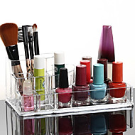 Acrylic Transparent Cosmetics Storage Stand Makeup Brush Pot Quadrate Cosmetic Organizer