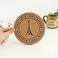 Motif Fer Ville Vintage ronde Wooden Coaster