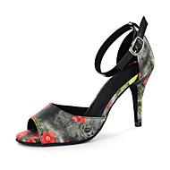 Tilpasses Kvinders kunstlæder øverste Moderne Dansesko sandaler med Buckie