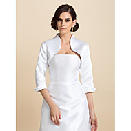Personalized 3/4 Sleeve Satin Wedding/Party Wraps(More Colors) Bolero Shrug