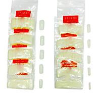 500PCS Meio pontas das unhas Nail Art Tips (cores sortidas)