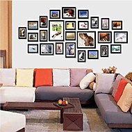 Black Photo Wall Frame Collection Set af 26