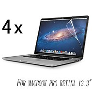 [4-pack] Hög kvalitet Invisible Shield Smudge Proof Skärmskydd till MacBook Pro Retina 13,3-tums