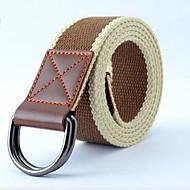pánská móda pro volný čas dvojitá smyčka spony tkaný pás (více barev)