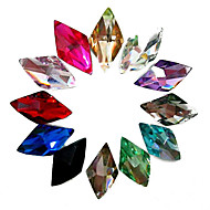 24PCS Mixs Color Glitter Rhombus Rhinestone Nail Art Decorations