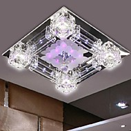 Max 3W Modern/Contemporary Crystal / LED / Bulb Included Electroplated Glass Flush Mount Bedroom / Dining Room / Hallway