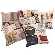 """Createforlife ® 18 """"Set om 6 Vintage Patchwork Pattern Örngott Kudde"""