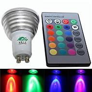 4W E26/E27 LED Spotlight S19 3 Integrate LED 220-250 lm RGB Dimmable / Remote-Controlled / Decorative AC 85-265 V