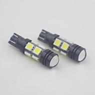 t10 3w 8x5050smd 490lm 6000-6500K studená bílá světla led žárovky pro auta (12V, 2 ks)