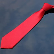 poliéster 10 color sólido corbata delgada de los hombres xinclubna® (7cm, 1pc)