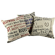 Cotton / Linen Pillow Cover / Pillow With Insert , Quotes & SayingsCasual / Traditional/Classic / Outdoor / Antique / Retro /