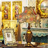Lampe de table de cru, une lumière, résine et tissu (810691)