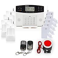LCD displej Wired & Wireless GSM alarm systém s SMS a Auto Dial 106 ZONE