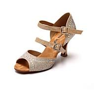 Chaussures de danse(Or) -Non PersonnalisablesSatin-Latine