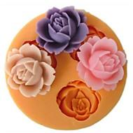 fiori a forma di cottura della muffa fandant, l9cm * w9cm * h1cm