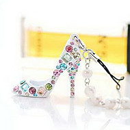 Lucky Doll Women's All Matching Crystal Cubic Zirconia Colorful high-heeled shoe accessory
