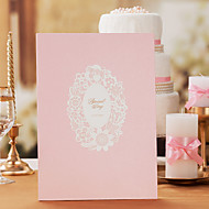 Pink Flower Style Guest Book Sign In Book Coral Wedding