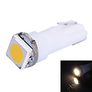 0.25W T5 14LM 1x5050SMD LED Warm White Light for Car Angi Dashboard Bredde Lamper (DC 12V 1stk)