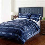 4 Piece - Moderne Navy Blue Stripe Talsmannen Set