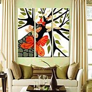 Canvastaulu taide Perhoset ja puut Set of 3