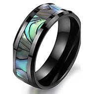 Anéis Casamento / Pesta / Diário / Casual / Esportes Jóias Cerâmica / Conchas Masculino Anéis Grossos6 / 7 / 8 / 9 / 10 Preto