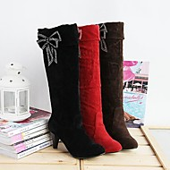 Suede  Women's  Cone Heel Mid-Calf Boots  Riding Boots  (More Colors)