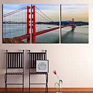 osobní plátně bay bridge galerie 40 x 60 cm 28 x 40 cm zabalené umění sadu 3