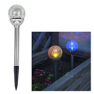 Solar-Farbwechsel Crackle Glaskugel Stake Light (Cis-41285A)