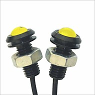 Carking™ 12V 1.5W 18MM Auto Car Eagle Eye Yellow Rear LED Light Day Time Running Lamp-Yellow Lens