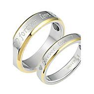 Prstenje za parove,Jewelry Srebrna Vjenčanje / Party / Dnevno / Kauzalni Titanium Steel5 / 6 / 7 / 8 / 9 / 10 Par