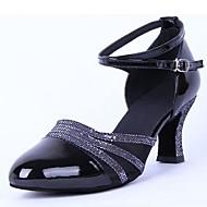 современной женской низкий каблук тюль с пряжкой танцевальной обуви (больше цветов)
