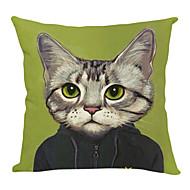 moderne dejlig kat bomuld / hør dekorative pudebetræk