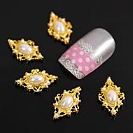 10db arany rombusz gyöngy ujjvégek kiegészítők Nail Art dekoráció