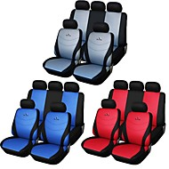 9 pc seggiolino auto copre set grigio blu rosso universale fit corse materiale del seggiolino da ricamo in poliestere