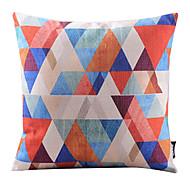 triangle multicolore mosaïque taie d'oreiller décoratif