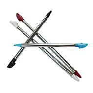 4 x jogo de metal caneta de toque stylus ajustável para nintendo 3dsll / xl consola