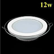 12w máscara de vidro redonda painel de LED SMD 5730 lâmpada mini-cozinha levaram luzes de teto AC85-265V