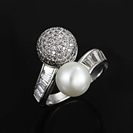 Elegant Gold Plated with Pearl Men's Ring