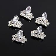 10szt brokat Korona Kryształ Rhinestone 3d duży gwóźdź sztuki dekoracji stop