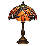 60W Tiffany Table Lamps , Feature for Eye Protection , with Painting Use On/Off Switch Switch