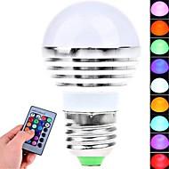 Pallolamput - RGB - Kauko-ohjattu E26/E27 - 3.0 W