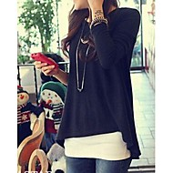 Women's Casual Asym Long Sleeve Loose Blouse