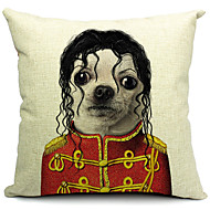 tecknad underbar hund bomull / linne dekorativa örngott