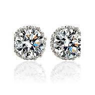 Stud Earrings Women's Vermeil/Brass Earring Cubic Zirconia