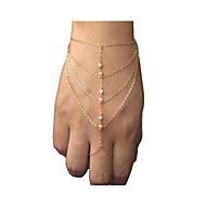 European Style Fashion Rhinestone Chain Bracelet with Ring